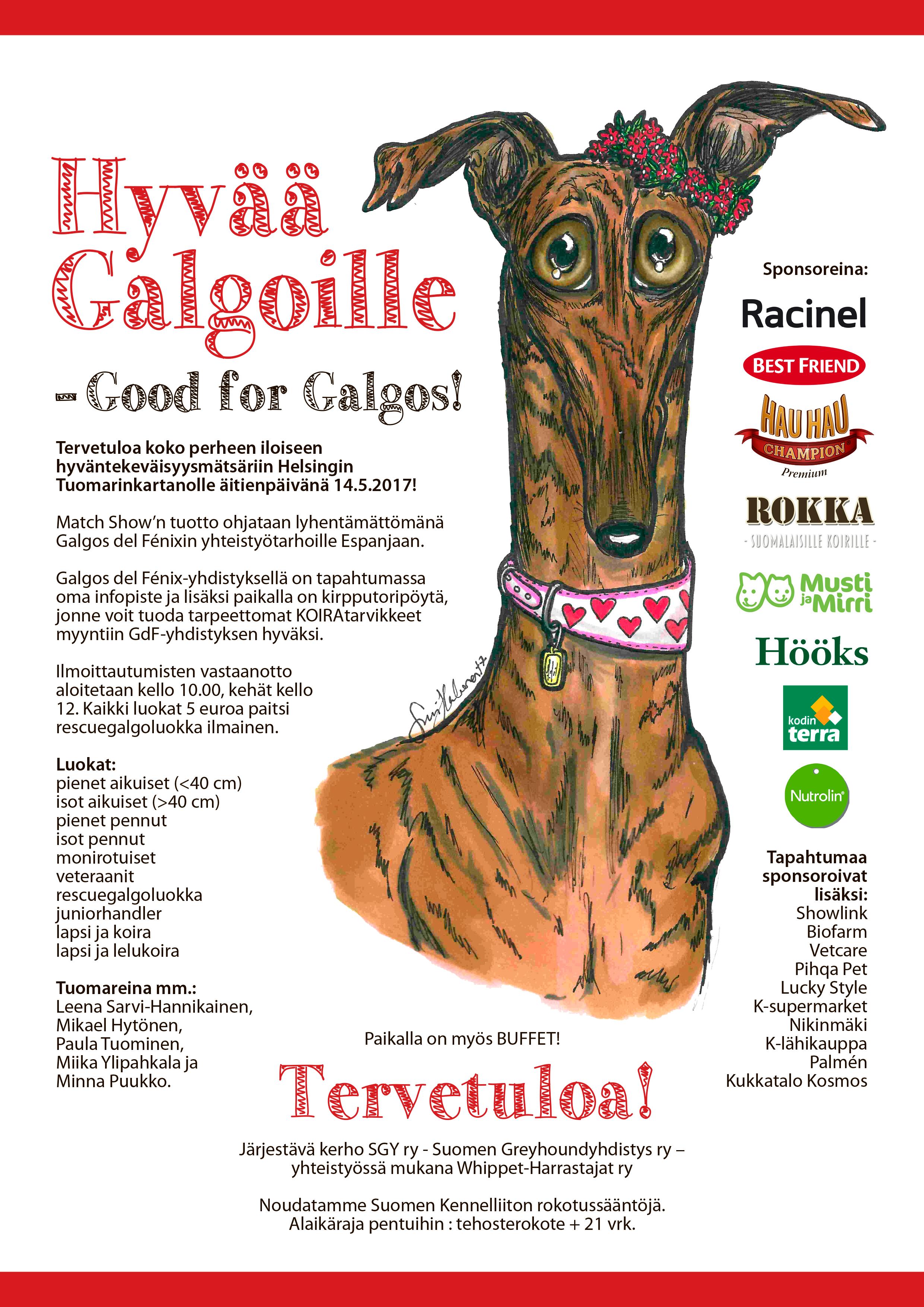 Hyvää Galgoille