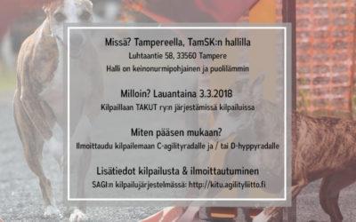 Whippet-Harrastajat ry:n agilitymestaruuskilpailut 2018
