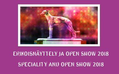 Erikoisnäyttely ja Open Show 2018 / Speciality Show and Open Show 2018