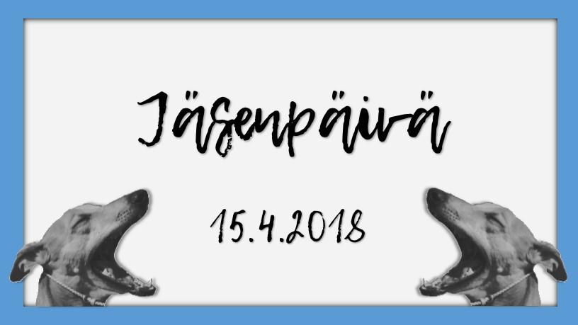 Jäsenpäivä 15.4.2018