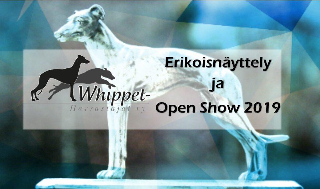 AIKATAULU – TIMETABLE / Whippet Erikoisnäyttely ja Open Show, Whippet Speciality and Open Show 8.-9.6.2019