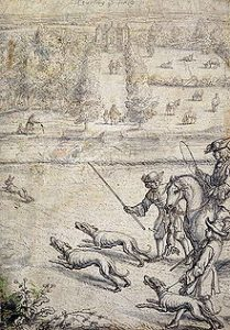Coursing the hare, 1600-luku
